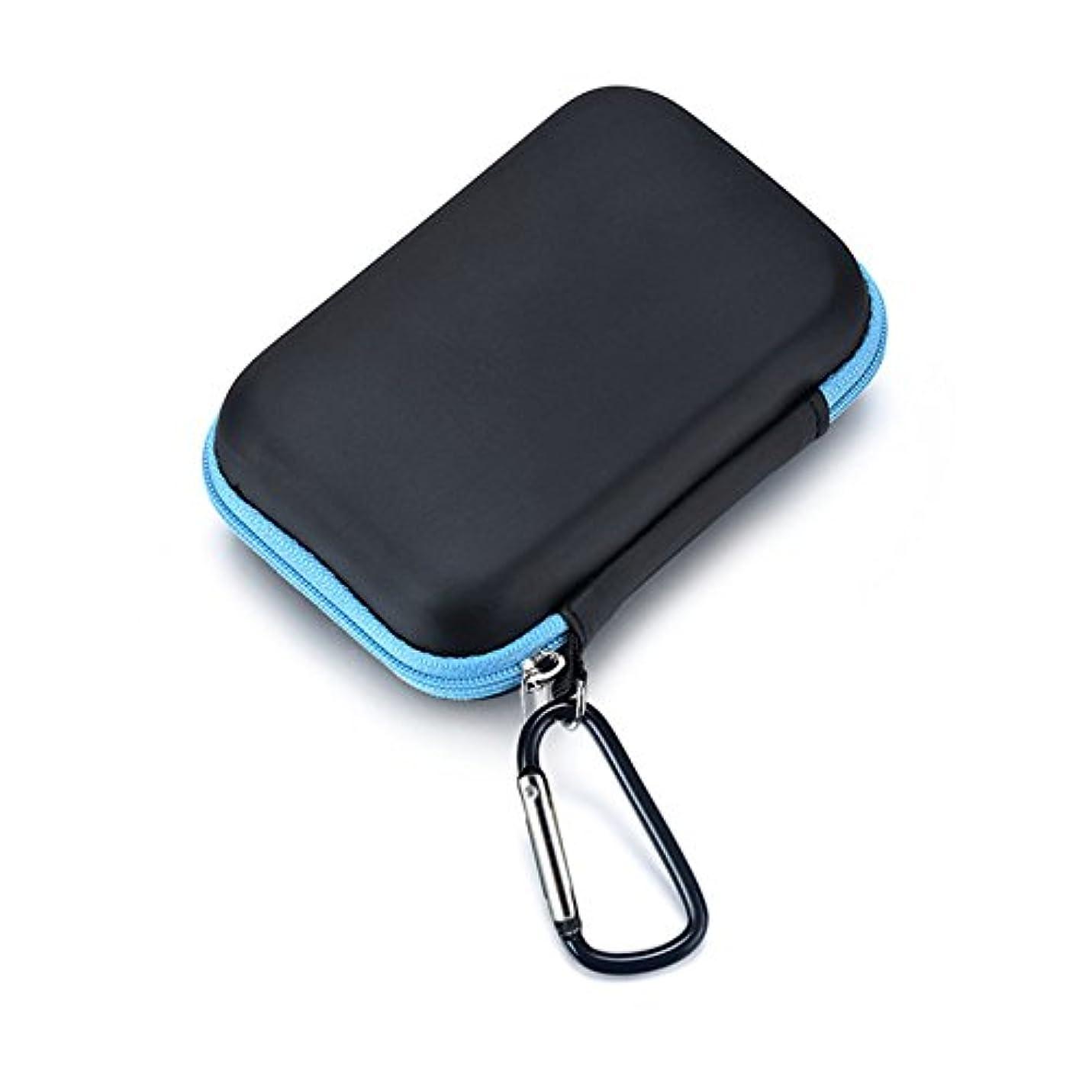 勉強する鉄道地域QIN 収納ケース ポーチ 携帯用バッグ ミニボトルケース 13.5 * 8.5 * 4.5cm 15本用