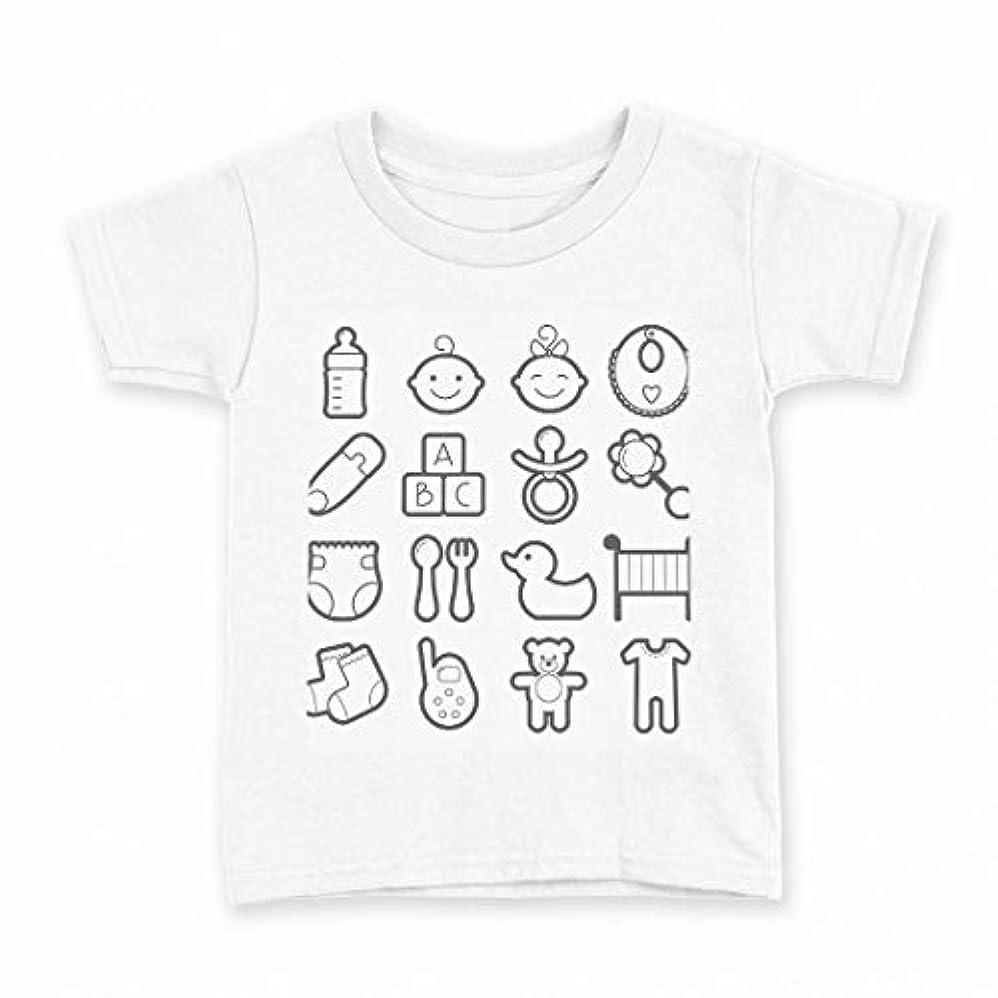 変動する社会主義者クリックigsticker プリント Tシャツ キッズ 子供 160 サイズ size おしゃれ クルーネック 白 ホワイト t-shirt 015553 赤ちゃん ベイビー ベビーシャワー