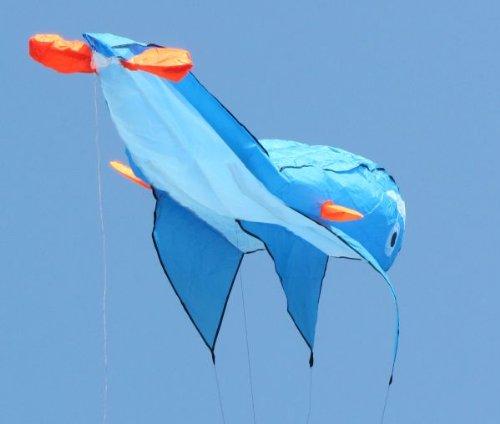 立体イルか凧 カイト フライング効果が非常に素晴らしいです 飛び、持ち運びやすいです