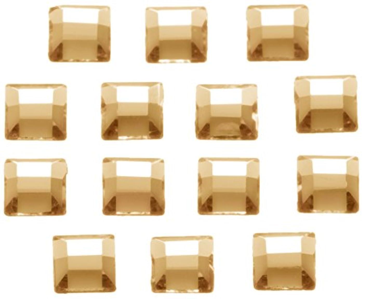 アブストラクト突然の保育園ネイルアートパーツ スクエア型クリスタルゴールデンシャドウ 3.0mm 36P