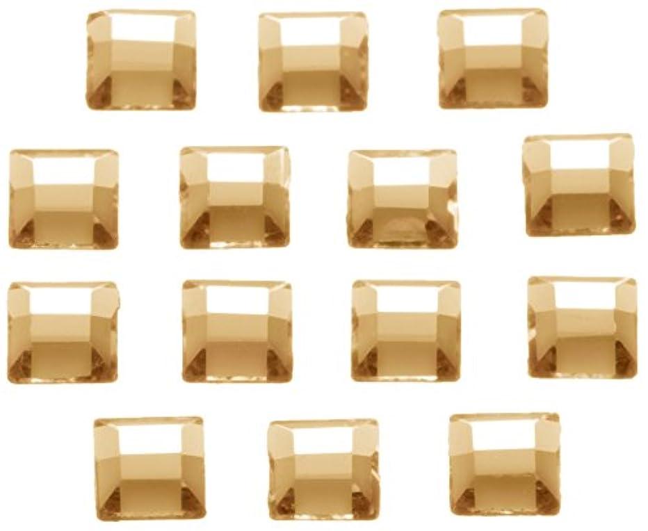 酸度チャレンジ死の顎ネイルアートパーツ スクエア型クリスタルゴールデンシャドウ 3.0mm 36P