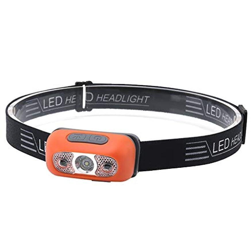 ナチュラキャロライン黙Nosterappou さまざまな照明ニーズ、誘導ヘッドライト、万能の軽量でスタイリッシュなデザインのヘッドライト、屋外LED防水ランニングキャンプの夜釣り用ライトを満たすために、夜間照明の4つのモードは、0-60°の間で調整することができます
