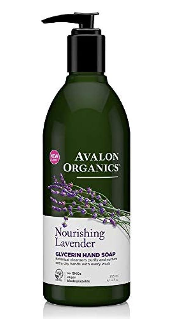音楽フローティング小人Avalon Organics Lavender Soap Liquid 355ml