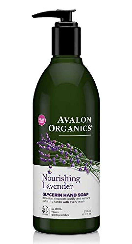 パイル軽く閉じるAvalon Organics Lavender Soap Liquid 355ml
