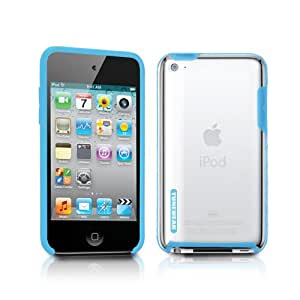 TUNEWEAR 第4世代iPod Touch対応ハードケース TUNESHELL RubberFrame for iPod touch 4G ブルー TUN-IP-000137