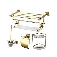 銅タオルラックバスルームペンダントバスルームハードウェアセット7点セット