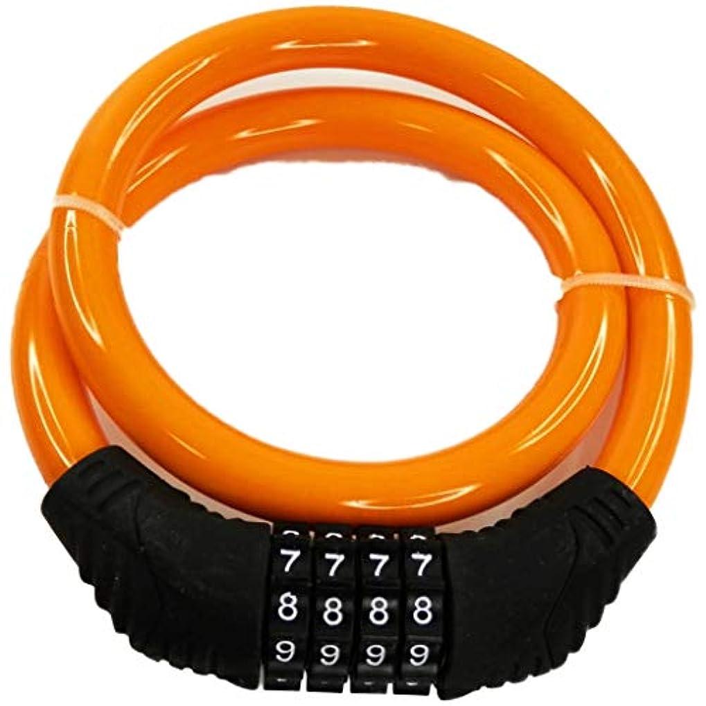 構造上回る家畜ピーチクラフト(Peach Craft) 自転車 鍵 ロック ケーブルロック ワイヤーロック ダイヤルロック 4桁 CYCLKD4002YL イエロー