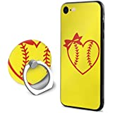 SuperIE IPhone 7 IPhone 8 専用 携帯ケース リング付き 野球 ソフトボールハート ハート 好き おしゃれ 耐衝撃 指紋防止 全面保護 薄くて軽い すり傷防止 スマホ アイフォンケース