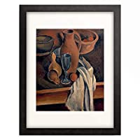 アンドレ・ドラン Andre Derain 「Pitcher with napkin and fruits. About 1912」 額装アート作品
