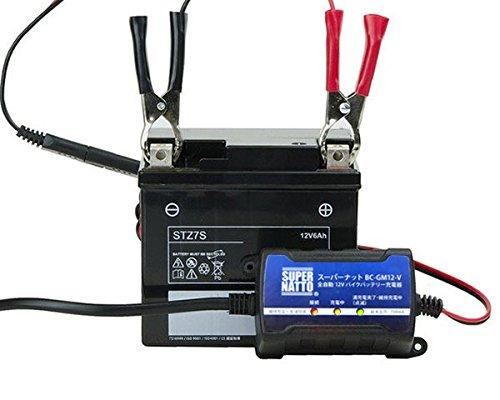 バイクバッテリー充電器+ST4B-5 セット■■YT4B-BSに互換■■ボルティクス・スーパーナット