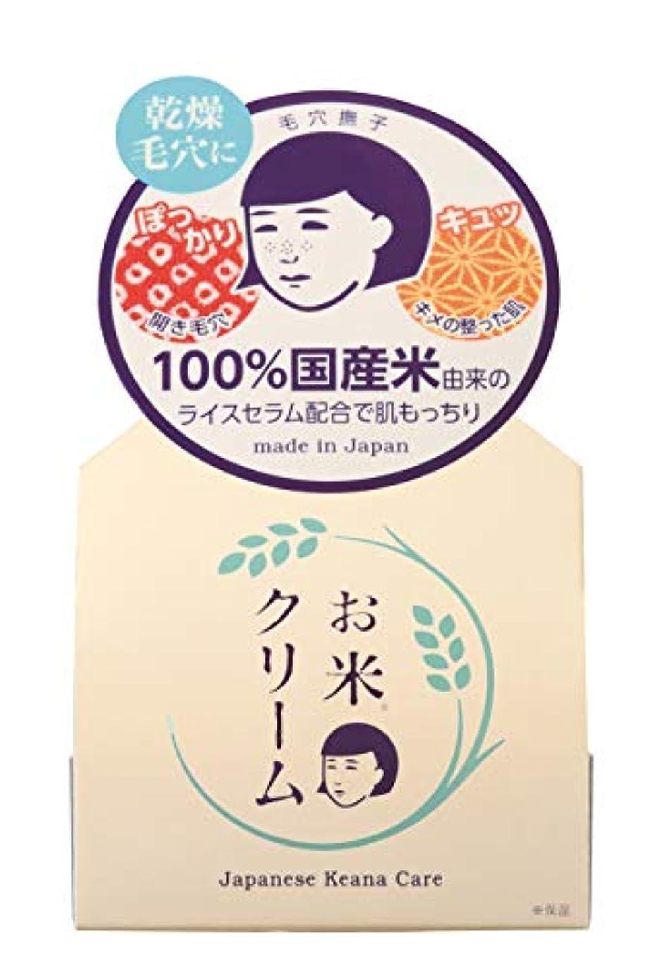 完全に乾く考えシングル毛穴撫子 お米のクリーム 30g