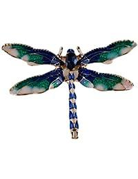 PINKING ブローチ 蜻 ラインストーン エレガント かわいい 人気 レディース ネクタイピン シンプル おしゃれ ブローチピン