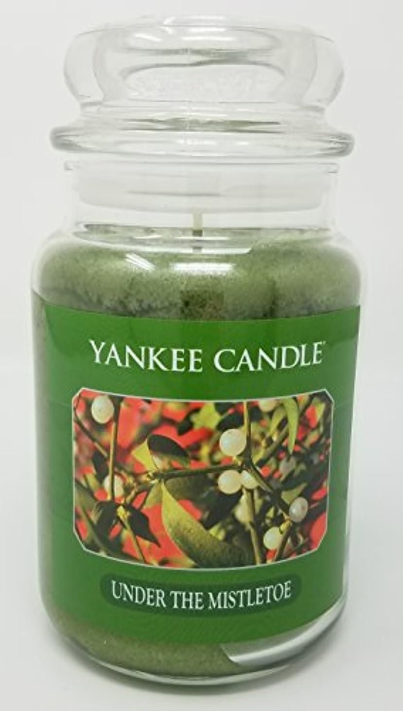 一月カルシウムガラガラYankee Candle Under the Mistletoe Large Jar Candle
