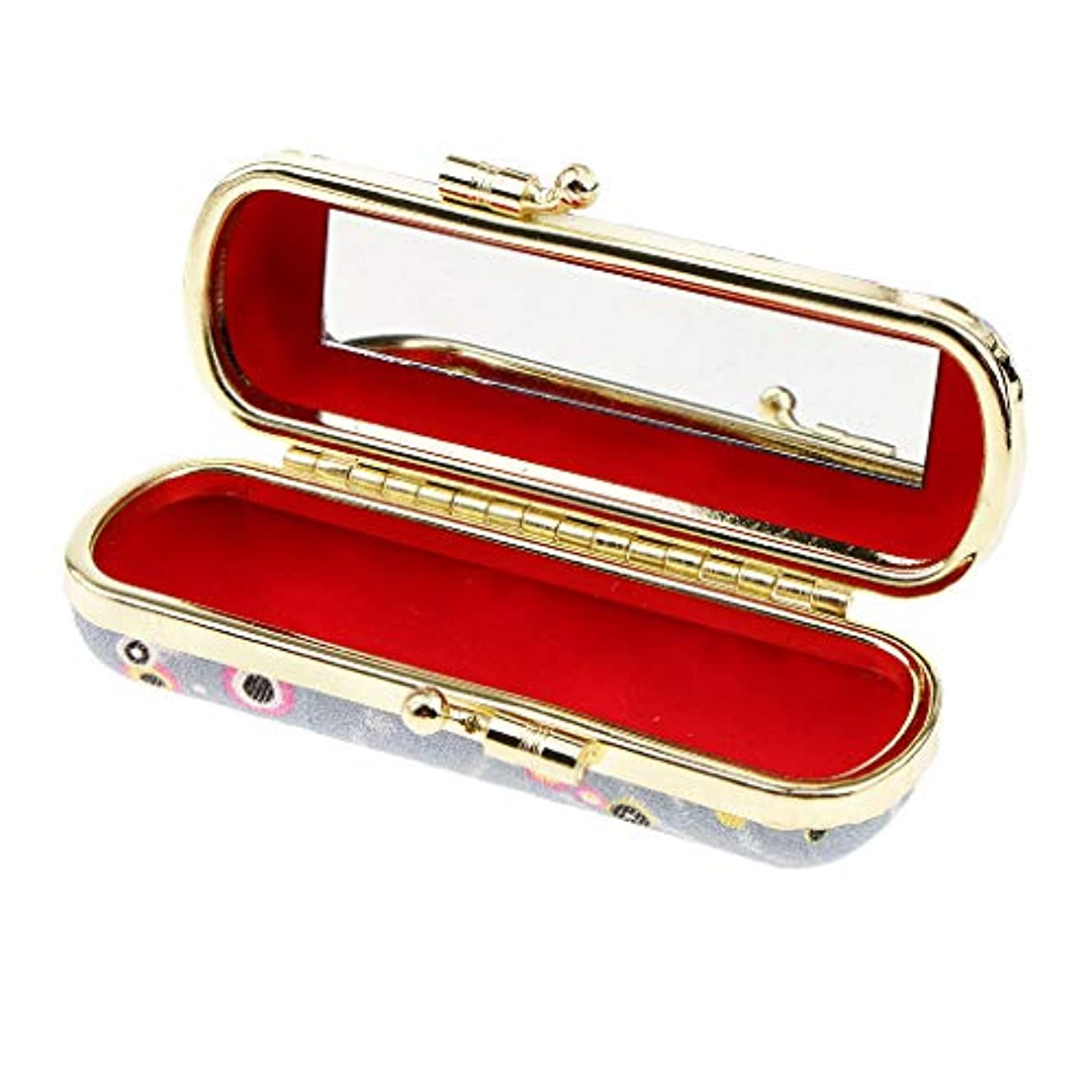 過度に無傷理解するToygogo 口紅ケース 収納ボックス リップグロスケース リップスティックケース 鏡付き 7タイプ選べ - レトロD