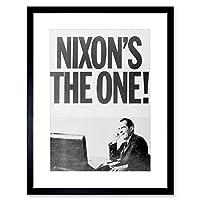 Vintage Photo Nixon's One Politics New Picture Framed Wall Art Print ビンテージ写真画像壁
