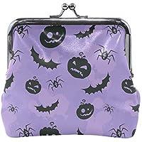 がま口 財布 口金 小銭入れ ポーチ コウモリ クモ かぼちゃ Jiemeil バッグ かわいい 高級レザー レディース プレゼント ほど良いサイズ