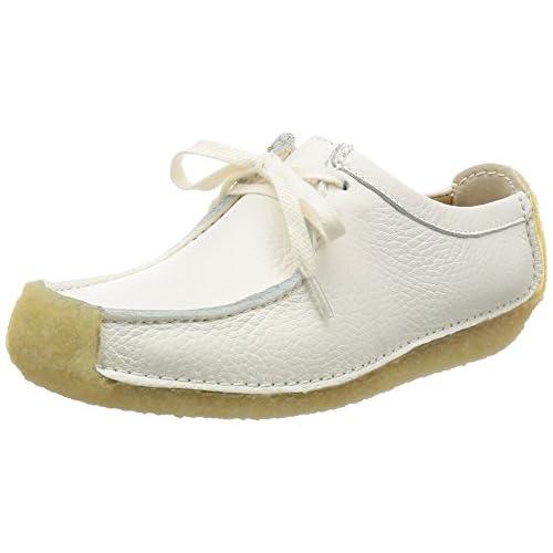 [クラークス] Clarks レースアップシューズ Natalie 26114966 White Leather (ホワイトレザー/UK 4.5)