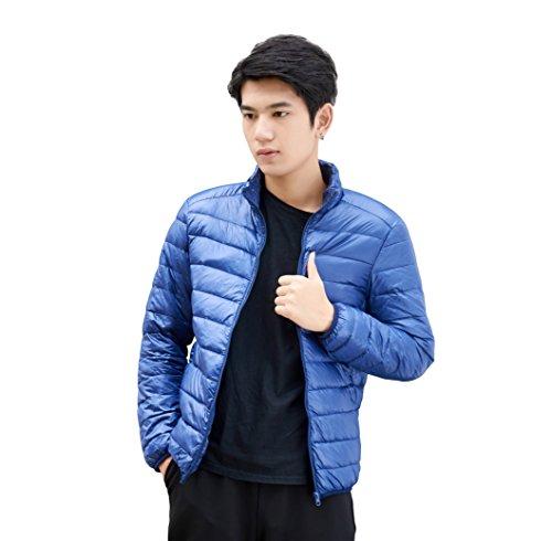 [イノヤ]ダウンジャケット メンズ 大きいサイズ ライトダウン 登山 軽量 防風 暖かい アウトドア 通勤 旅行 秋 冬 収納袋付き ネイビー XL