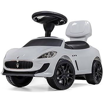 6f046c2d0ee22e マセラティ公認 乗用玩具 [GranCabrio MC] 【ホワイト】 足けり 転倒防止ストッパー 背もたれ シート開閉 収納 多機能ハンドルで音楽