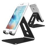 Nimaso スマホ タブレット スタンド アルミ 角度調整可能 iPhone X / 8 / 7 / 6 / 6s / plus / 5s / 5 , Note 8 , SONY 等対応 (ブラック)