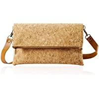 CrossBody Bag Clutch Shoulder Hand Bag Women Girl Small Zippers Pockets Coin Card Purse ECO Cork