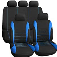 Trendyest 9個通気性ポリエステル車のフロントリアシートカバーシートヘッドレストカバー
