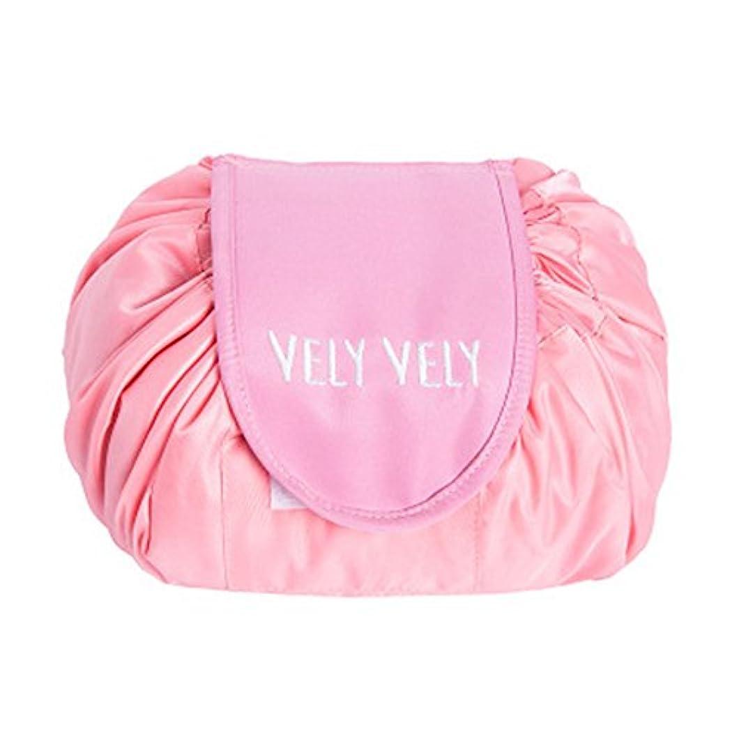 煙愛人虫を数えるLittleliving 旅行メイクバッグ 旅行化粧バッグ メイク収納バッグ 化粧ポーチ 大容量 巾着 マジックふろしきポーチ