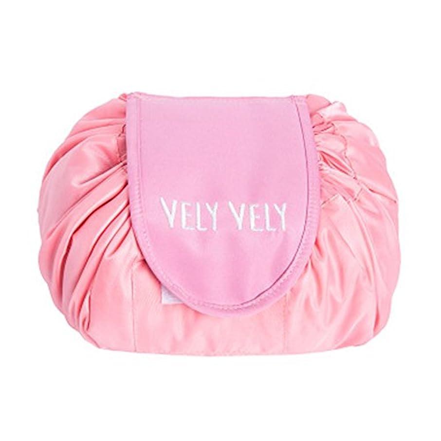 要旨お茶十億Littleliving 旅行メイクバッグ 旅行化粧バッグ メイク収納バッグ 化粧ポーチ 大容量 巾着 マジックふろしきポーチ