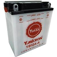 バイク用バッテリー YUASA 台湾 ユアサ YB12A-A 液別 (YB12A-A GM12AZ-4A-1 FB12A-A 12N12A-4A-1 互換)