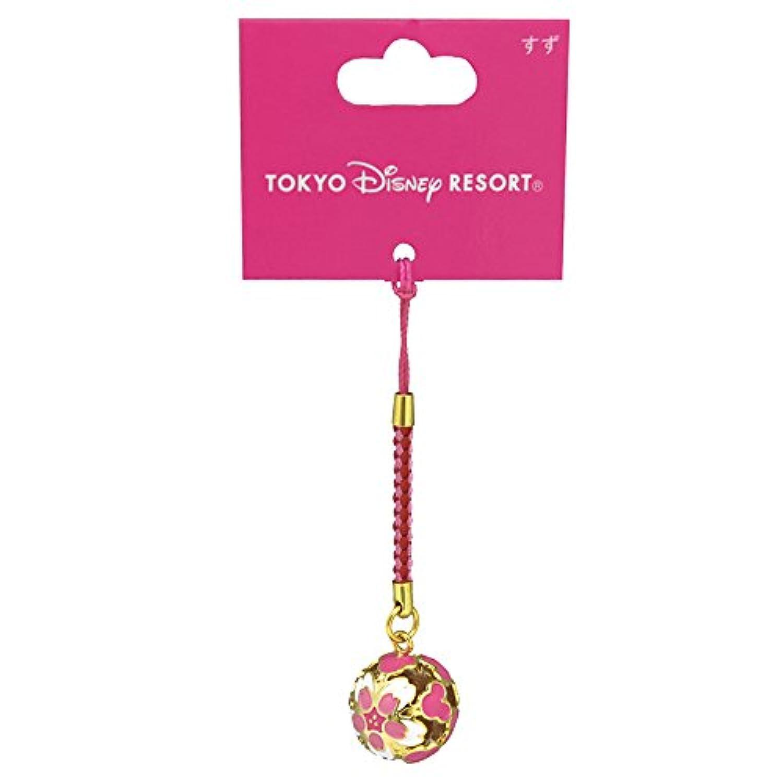 鈴 ストラップ 丸型 ピンク ( 桜 & ミッキーシェイプ ) ディズニー ミッキー マウス ( 東京 ディズニー リゾート 限定 グッズ お土産