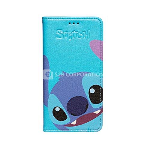 Galaxy S4 Disney Color Flip ディズニー カラー フリップ 手帳型 ケース カバー スティッチ / Stitch ギャラクシー S4 (SC-04E)