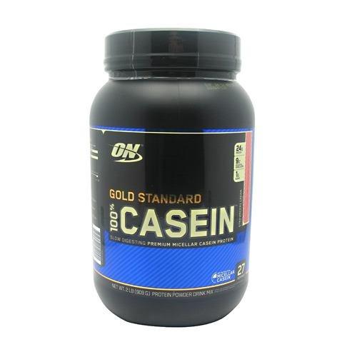 Optimum Nutrition 100%ゴールドスタンダード カゼインプロテイン 908g (Gold Standard 100% Casein 2 lbs) (ストロベリークリーム(Strawberry Cream))