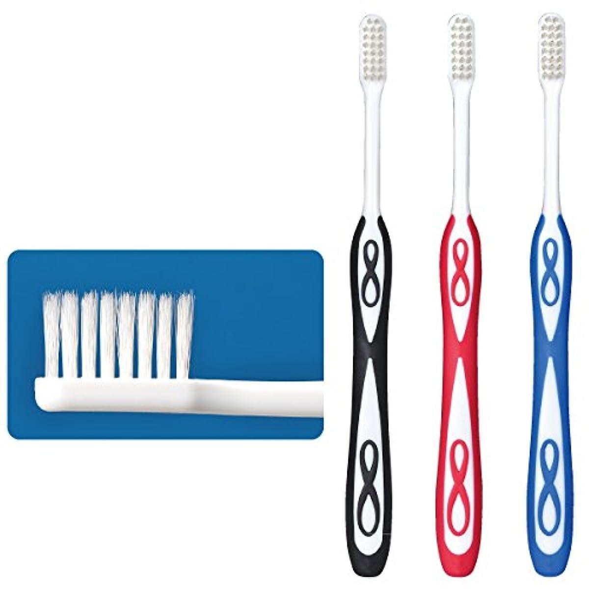 実験をするポール人間Lover8(ラバーエイト)歯ブラシ レギュラータイプ オールテーパー毛 Mふつう 3本入