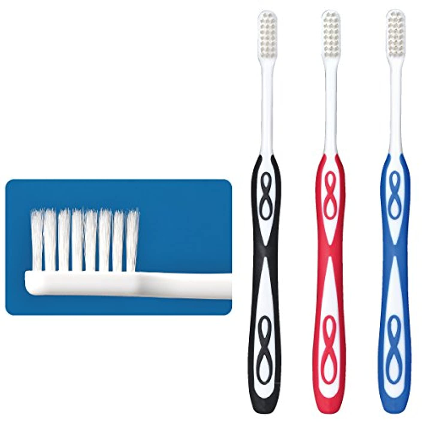円形のアルネフライトLover8(ラバーエイト)歯ブラシ レギュラータイプ オールテーパー毛 Mふつう 30本入