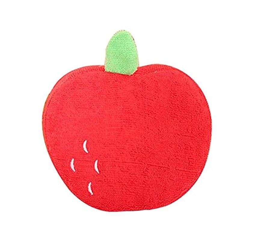 ローラーすぐに情報ステレオ感覚は強い果実の形ですベビーバスコットンバススポンジ、アップル