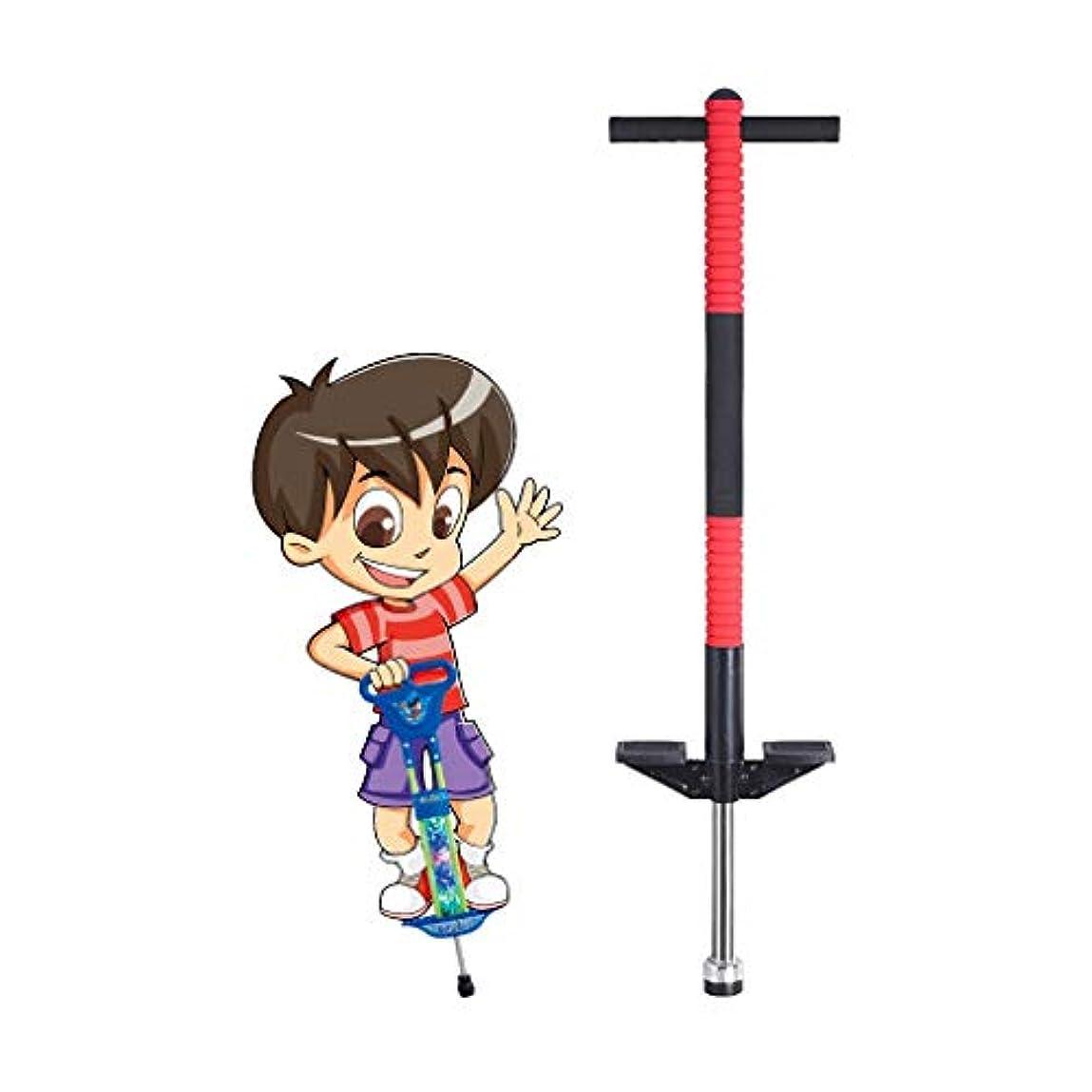 ロッカー拮抗微妙GUU 子供のためのジャンプバウンススティックおもちゃ 6-12歳の男の子と女の子のためのバウンススティック 室内おもちゃ 無料インストール 開梱して遊ぶことができます (Color : Red)