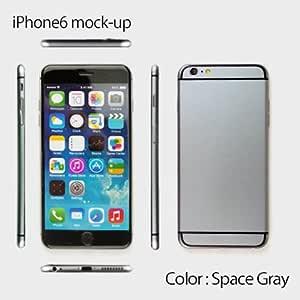 【TOYSMARKET】 新型iPhone モックアップ 4.7インチ/5.5インチ 展示用 (スペースグレー/画面あり/4.7インチ)