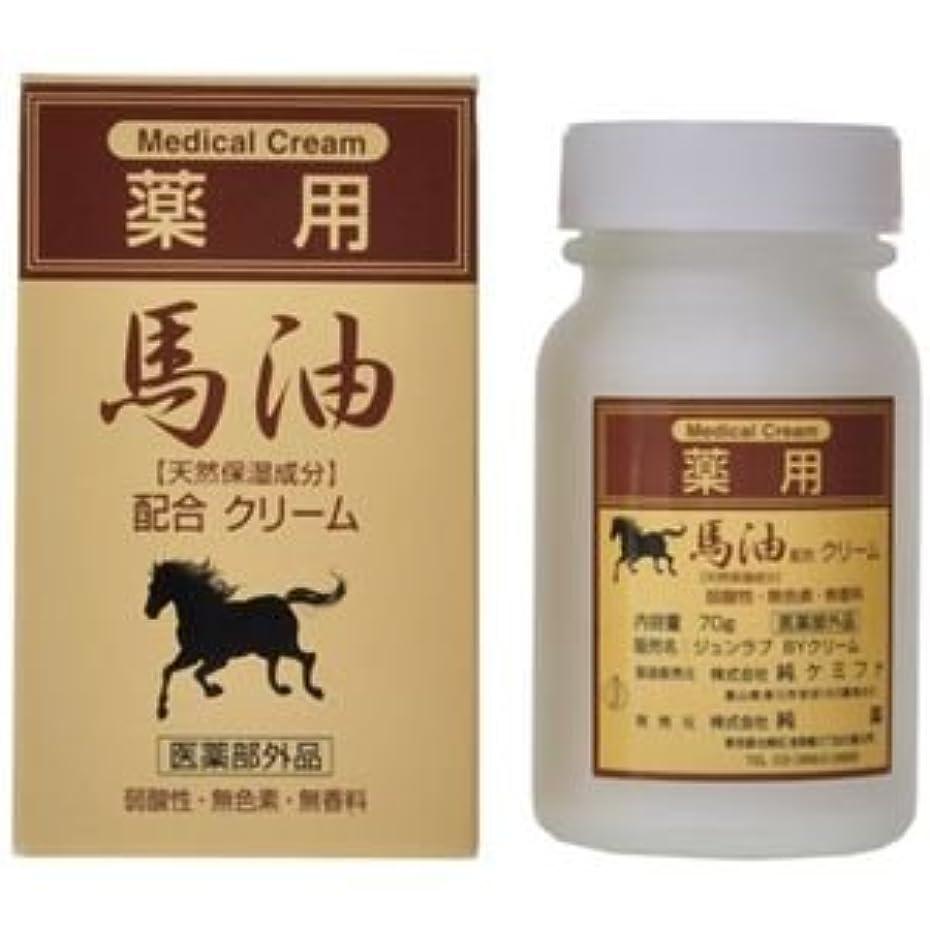 魅惑的な永続未知の純薬 薬用 馬油配合クリーム 70g 4セット