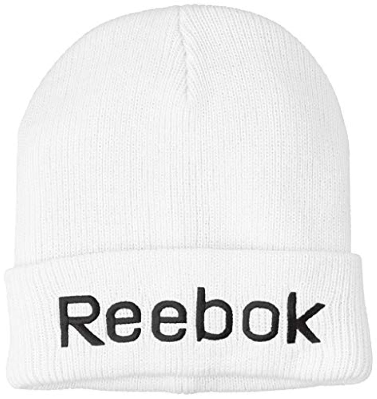 空キャリア浜辺[リーボック] Reebok リーボック デカロゴ刺繍ニットキャップ AC2014 ニットキャップ