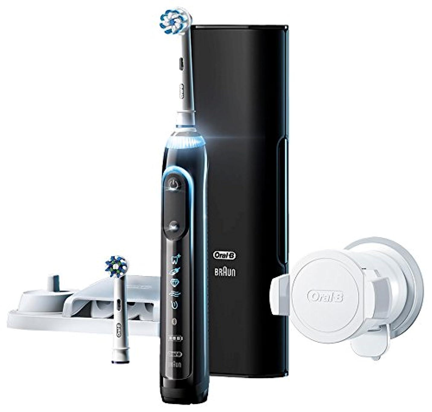 剃る移行する透けるブラウン オーラルB 電動歯ブラシ ジーニアス9000 ブラック D7015256XCTBK