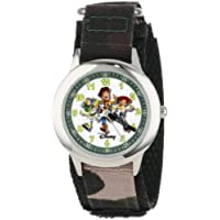 "Disney Kids' W000065 Toy Story 3""Buzz Lightyear, Woody & Jessie"" Stainless Steel Time Teacher Watch"