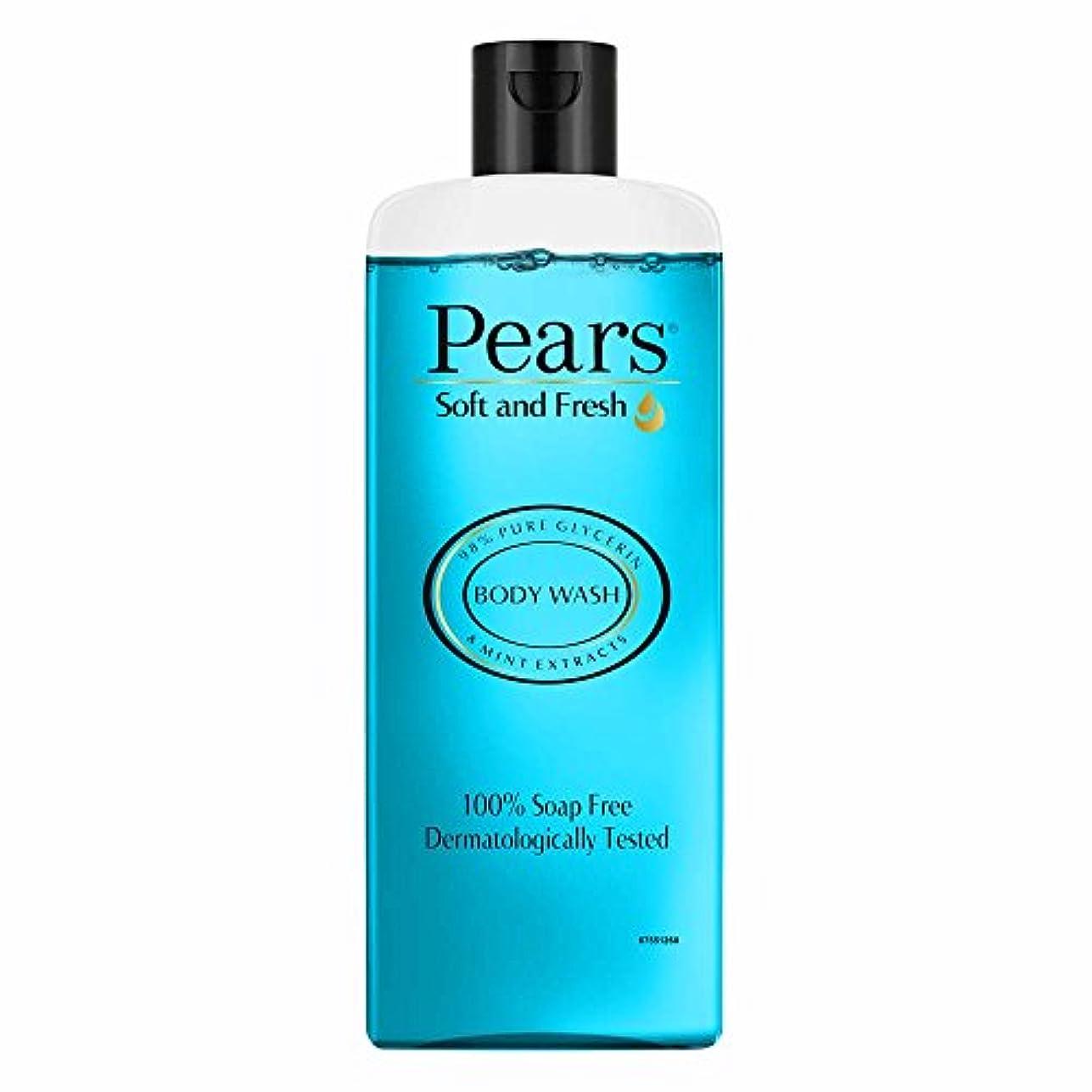 テクスチャー固有の支配するPears Soft and Fresh Shower Gel, 250ml