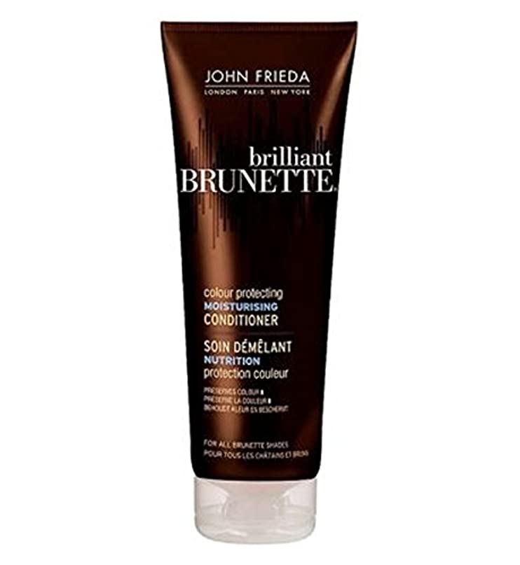 光景初期荒涼としたJohn Frieda Brilliant Brunette Colour Protecting Moisturising Conditioner for Brunettes 250ml - 250ミリリットルブルネット...
