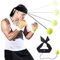 パンチングボール AISITIN ボクシングボール サンドバッグ ボクシンググッズ 格闘技 軽量 打撃訓練 ストレス発散 パンチ テニス練習ボール ヘッドバンド付き 自由戦闘 迅速な対応能力など鍛え ファイトボール