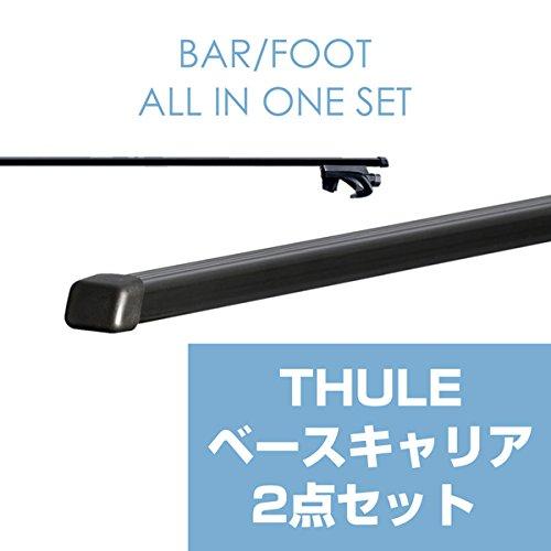 THULE(スーリー) ジムニー(幌車は除く)専用ベースキャリアセット(フット757+スクエアバー761) ルーフレール付き H10/10~ JB23W