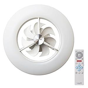 ルミナス LED シーリングサーキュレーター ~8畳 調光調色タイプ 光拡散レンズ搭載 シンプルリモコン付き DCC-08CM