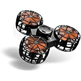 Bonitronic Flying Fidget Spinner, Anti-Anxiety ADHD Relieving Reducer Interactive Fidget Rotation Triangle Toys Funny Drone Interactive Games Kids Adults, Black- 1 Years Warranty