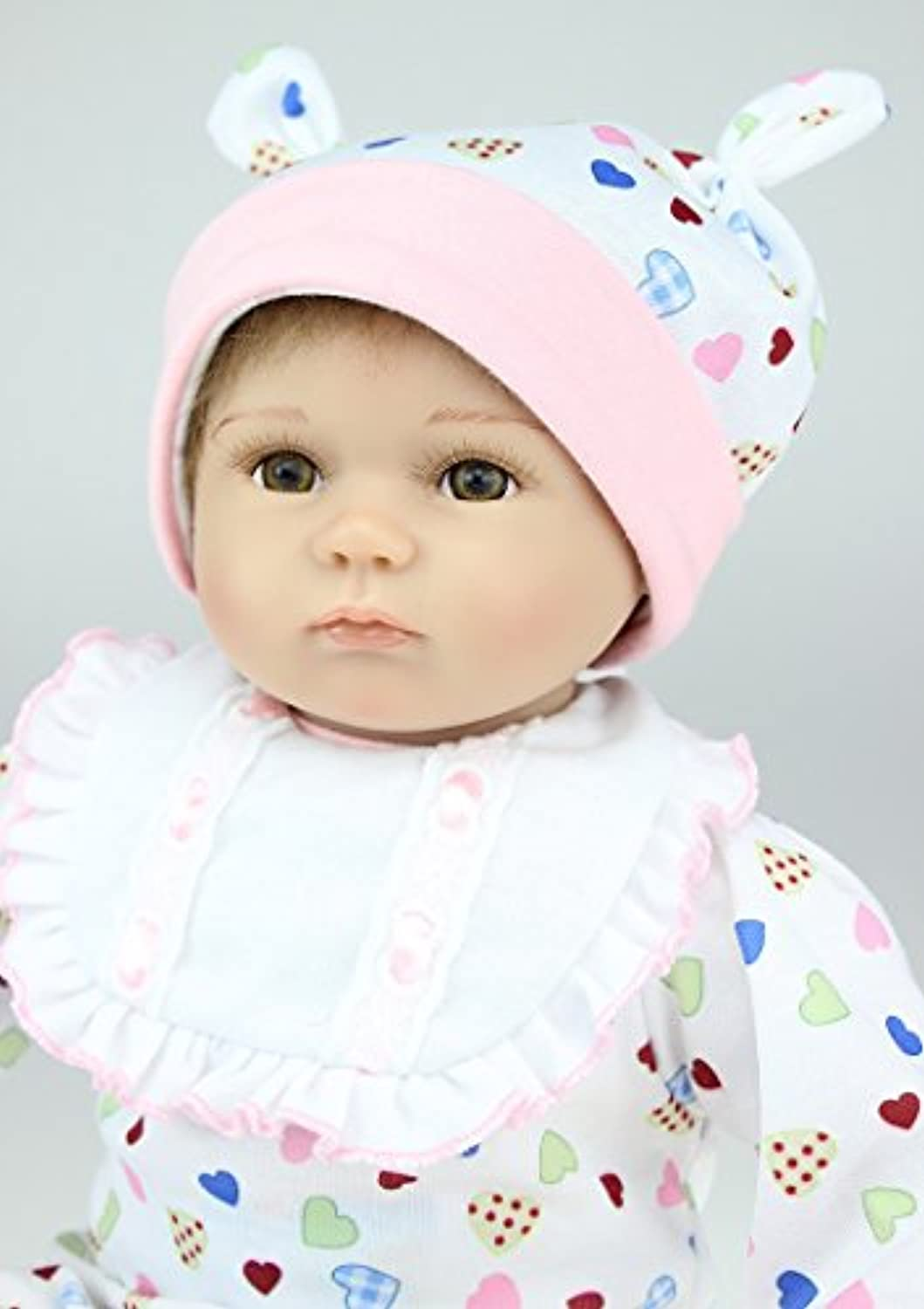 GeShuo Reborn Baby Doll Soft Silicone Vinyl 17 inch Lifelike Baby Boy Girl Toy Beautiful clothes doll 42 cm Hots