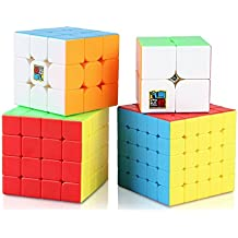 Nitrocubes Speed Cube Set, Moyu 2x2 3x3 4x4 5x5 Stickerless Magic Cube Set in Gift Box