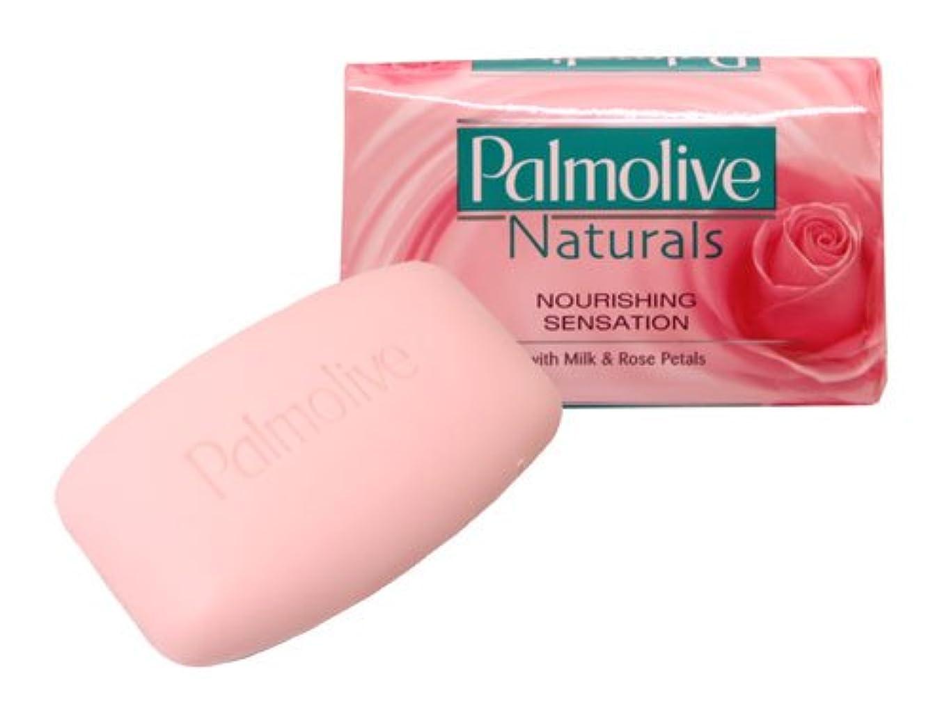 聴く頂点社説【Palmolive】パルモリーブ ナチュラルズ石鹸3個パック(ミルク&ローズ)